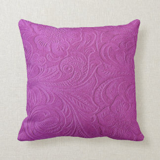Mirada floral rosada del cuero de Monotones sueco Almohada