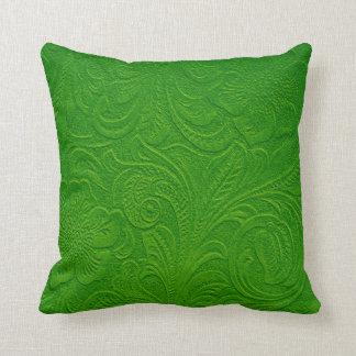 Mirada floral verde del cuero de Monotones sueco Almohadas