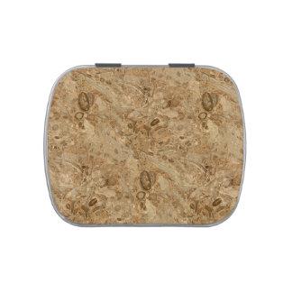 Mirada fósil de mármol de Brown Frascos De Dulces