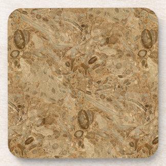 Mirada fósil de mármol de Brown Posavasos De Bebidas