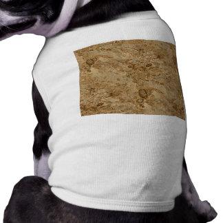 Mirada fósil de mármol de Brown Camisetas De Mascota