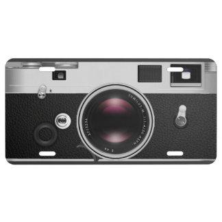 Mirada fresca de la cámara del vintage placa de matrícula