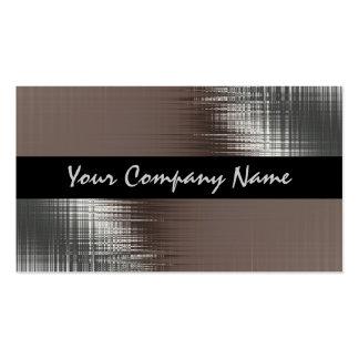 Mirada fresca del metal en tarjetas de visita negr