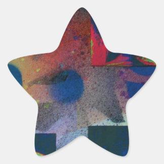 Mirada furtiva en el La Gioconda Pegatina En Forma De Estrella