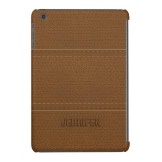 Mirada gastada de la imitación de cuero de Brown Funda De iPad Mini