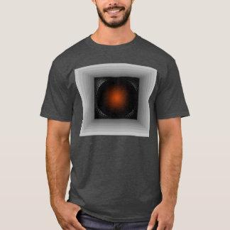 Mirada geométrica gris de la ilusión de la playera