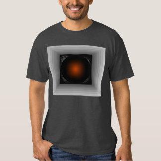 Mirada geométrica gris de la ilusión de la playeras