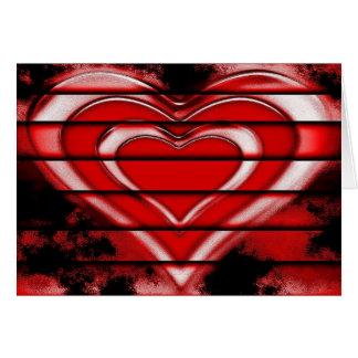 Mirada gótica del Grunge de los corazones de la Tarjeta De Felicitación