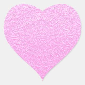 Mirada grabada de seda rosada: Añada el texto o la Pegatina En Forma De Corazón