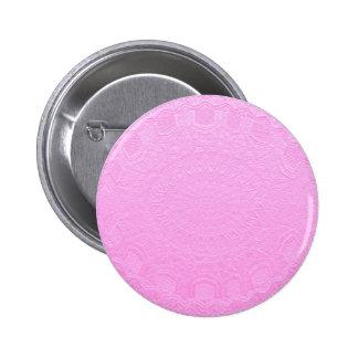 Mirada grabada de seda rosada: Añada el texto o la Pin Redondo De 2 Pulgadas