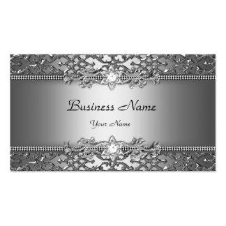Mirada grabada en relieve damasco con clase elegan tarjetas de visita