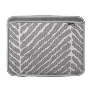 Mirada gris de la lona de las rayas del tigre fundas MacBook