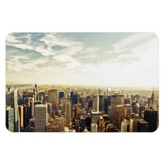 Mirada hacia fuera sobre el horizonte de New York  Iman