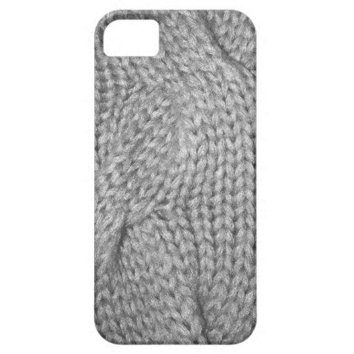 Mirada hecha punto suéter gris, caso del iPhone 5 iPhone 5 Cárcasas