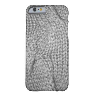 Mirada hecha punto suéter gris, caso del iPhone 6 Funda Para iPhone 6 Barely There