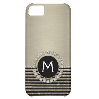 Mirada horizontal moderna del brillo de la raya de carcasa para iPhone 5C
