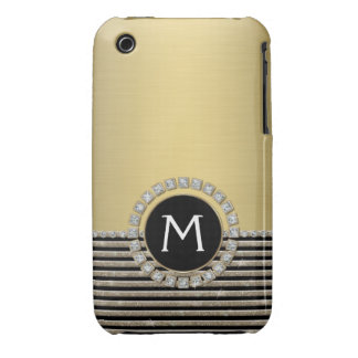 Mirada horizontal moderna del brillo de la raya de Case-Mate iPhone 3 coberturas