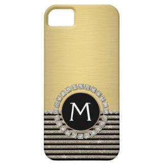 Mirada horizontal moderna del brillo de la raya funda para iPhone SE/5/5s