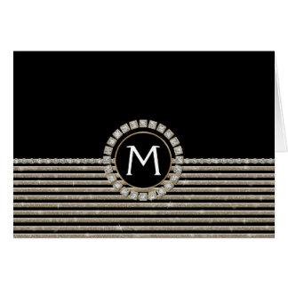 Mirada horizontal moderna del brillo de la raya tarjeta de felicitación