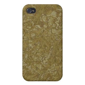 Mirada iPhone4 del granito del oro iPhone 4/4S Funda