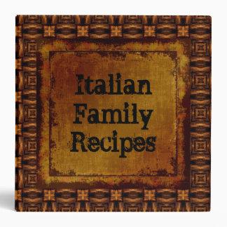 Mirada italiana del cuero de las recetas de la fam