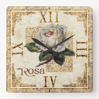 """Mirada lamentable """"Rosa"""" del vintage cuadrado del Reloj Cuadrado"""