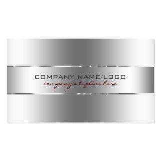 Mirada llana del acero inoxidable del diseño de la plantillas de tarjeta de negocio