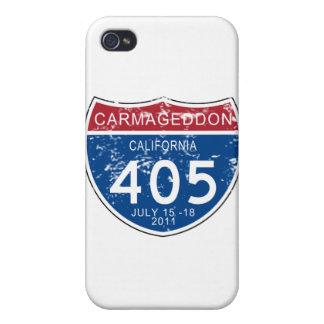 Mirada llevada Carmageddon del VINTAGE iPhone 4 Cárcasa