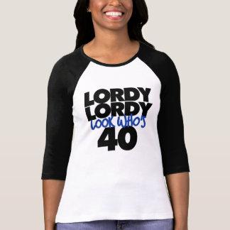 Mirada lordy de Lordy que es 40 años Playera