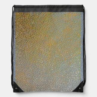 Mirada marcada con hoyos plata elegante de la text mochila
