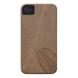 mirada masculina del cuero de la huella de los cie iPhone 4 Case-Mate cobertura