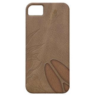 mirada masculina del cuero de la huella de los funda para iPhone SE/5/5s