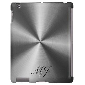 Mirada media metálica del acero inoxidable de los  funda para iPad