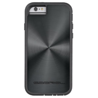 Mirada metálica 2 del acero inoxidable de los funda de iPhone 6 tough xtreme