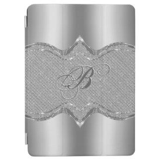 Mirada metálica de plata con el modelo 2 de los cubierta de iPad air
