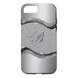 Mirada metálica de plata con el modelo 2a de los funda iPhone 7