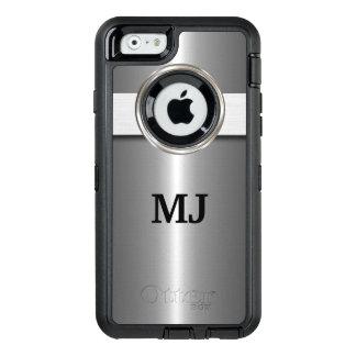 Mirada metálica de plata fresca funda OtterBox defender para iPhone 6