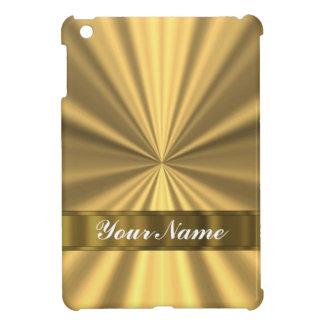 Mirada metálica del oro iPad mini carcasa