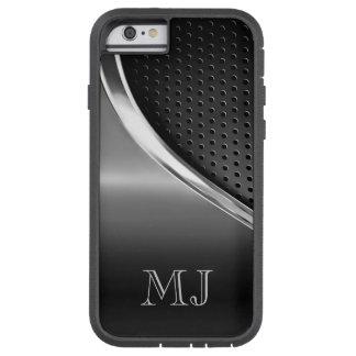 Mirada metálica moderna con monograma funda para  iPhone 6 tough xtreme