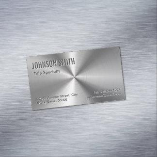 Mirada metálica radial de la astilla llana tarjetas de visita magnéticas (paquete de 25)
