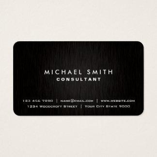 Mirada moderna negra llana profesional elegante tarjeta de negocios
