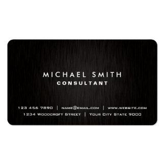 Mirada moderna negra llana profesional elegante tarjetas de visita
