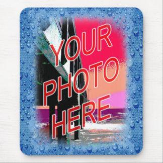 Mirada mojada de la plantilla del marco de la foto tapete de ratones