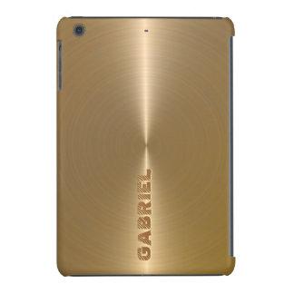 Mirada-Monograma metálico del acero inoxidable del Funda Para iPad Mini Retina