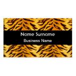 Mirada negra amarilla del tigre tarjetas de visita
