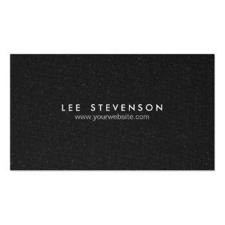 Mirada negra manchada elegante simple de la lona tarjeta de visita