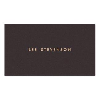 Mirada oscura sólida simple de la gamuza marrón de plantilla de tarjeta de visita