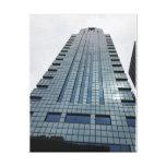 Mirada para arriba del edificio en Philadelphia Impresión En Lienzo Estirada