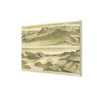 Mirada para arriba del Toroweap del trono de Vulca Impresión En Lienzo Estirada