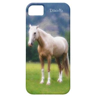 Mirada pintada caballo suave soñador del Palomino iPhone 5 Protectores